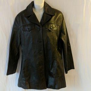 Maxima Wilsons dark brown leather jacket sz Large